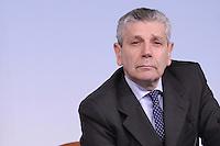 Roma, 6 Aprile 2012.Palazzo Chigi.Il Ministro della Difesa Giampaolo Di Paola presenta alla stampa la Riforma della Difesa