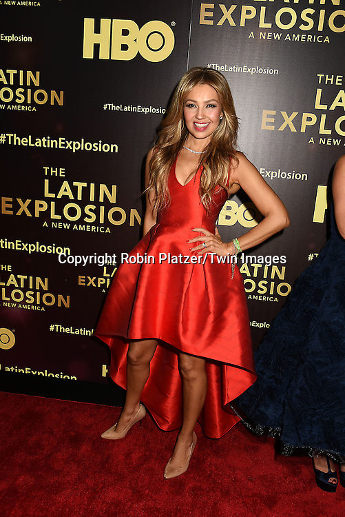 Thalia attends the HBO premiere of &quot;The Latin Explosion: A New America&quot; on November 10, 2015 at the Hudson Theater in New York City, New York, USA.<br /> <br /> photo by Robin Platzer/Twin Images<br />  <br /> phone number 212-935-0770