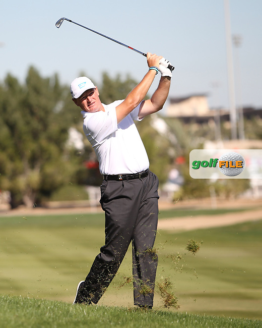 Ernie Els (RSA) on the 2nd during the second round at the Abu Dhabi HSBC Golf Championship in the Abu Dhabi golf club, Abu Dhabi, UAE..Picture: Fran Caffrey/www.golffile.ie.