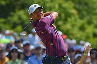 Xander Schauffele (USA) watches his tee shot on 6 during 3rd round of the 100th PGA Championship at Bellerive Country Club, St. Louis, Missouri. 8/11/2018.<br /> Picture: Golffile | Ken Murray<br /> <br /> All photo usage must carry mandatory copyright credit (&copy; Golffile | Ken Murray)