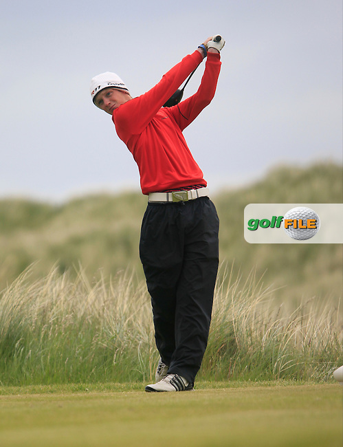 Stephen Coulter (Warrenpoint)<br /> during R1 of the East of Ireland Amateur Open championship 2013 at Co Louth Golf club, 1/6/13<br /> Picture:  Thos Caffrey / www.golffile.ie
