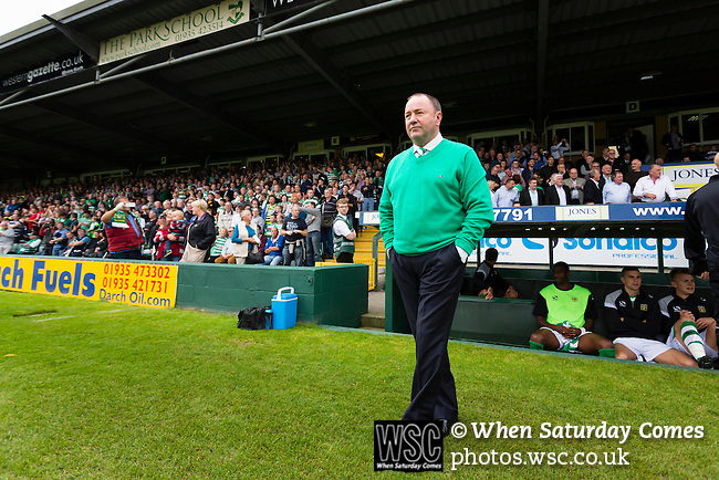 Yeovil Town 0 Queens Park Rangers 1, 21/09/2013. Huish Park, Championship. Gary Johnson Yeovil manager. Photo by Paul Thompson.