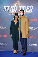 Sonequa Martin-Green &amp; Shazad Latif at the special fan screening for &quot;Star Trek Discovery&quot; at Millbank Tower, London, UK. <br /> 05 November  2017<br /> Picture: Steve Vas/Featureflash/SilverHub 0208 004 5359 sales@silverhubmedia.com