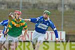 Kilmoyley's James Godley and St Brendan's Damien Wallace.   Copyright Kerry's Eye 2008