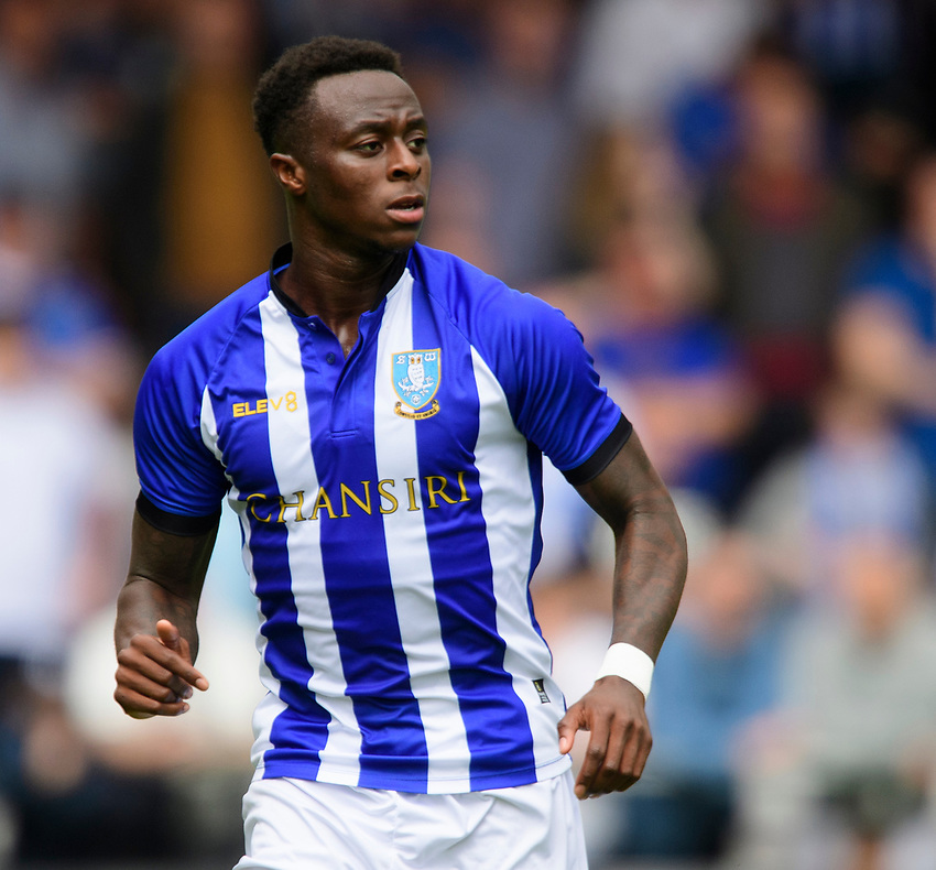 Sheffield Wednesday's Moses Odubajo<br /> <br /> Photographer Chris Vaughan/CameraSport<br /> <br /> Football Pre-Season Friendly - Lincoln City v Sheffield Wednesday - Saturday July 13th 2019 - Sincil Bank - Lincoln<br /> <br /> World Copyright © 2019 CameraSport. All rights reserved. 43 Linden Ave. Countesthorpe. Leicester. England. LE8 5PG - Tel: +44 (0) 116 277 4147 - admin@camerasport.com - www.camerasport.com