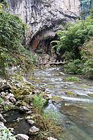 China, Guizhou, Dragon Palace Scenic Area.  Approaching Limestone Cave.