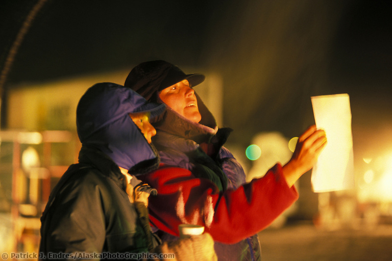 Ice sculptors at the World Ice Championships in Fairbanks, Alaska
