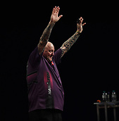 10th January 2018, Brisbane Royal International Convention Centre, Brisbane, Australia; Pro Darts Showdown Series; Andy Hamilton (GBR) celebrates victory in his match against Lewis Kirk (AUS)