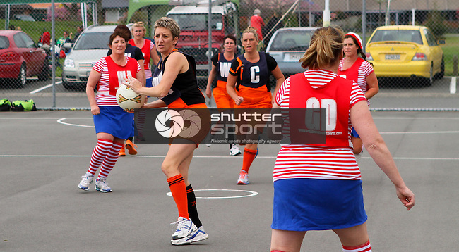 Netball, SI Masters Games, 5 October 2013, Nelson, New Zealand<br /> Photo: Marc Palmano/shuttersport.co.nz