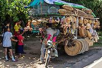 Cambodian Basket Street Vendor