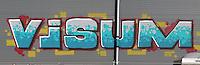 Visum Schriftzug: EUROPA, DEUTSCHLAND, HAMBURG, (EUROPE, GERMANY), 18.02.2015 Visum Schriftzug als Graffiti gespueht an einer Hauswand