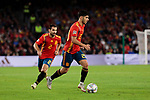 Spain's Jonny Castro (L) and Marcos Asensio (R) during UEFA Nations League 2019 match between Spain and England at Benito Villamarin stadium in Sevilla, Spain. October 15, 2018. (ALTERPHOTOS/A. Perez Meca)