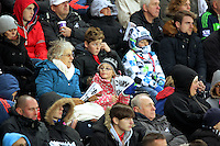 Swansea supporters during the Barclays Premier League match between Swansea City and Bournemouth at the Liberty Stadium, Swansea on November 21 2015