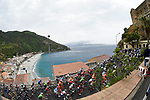 The peloton pass some beautiful scenery during Stage 6 of the 100th edition of the Giro d'Italia 2017, running 217km from Reggio Calabria to Terme Luigiane, Italy. 11th May 2017.<br /> Picture: LaPresse/Fabio Ferrari | Cyclefile<br /> <br /> <br /> All photos usage must carry mandatory copyright credit (&copy; Cyclefile | LaPresse/Fabio Ferrari)
