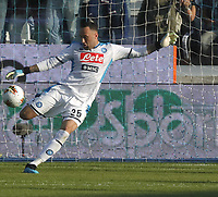 27th October 2019; Stadio Paolo Mazza, Ferrara, Emilia Romagna, Italy; Serie A Football, SPAL versus Napoli; David Ospina of Napoli clear the ball long from his box - Editorial Use