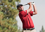 August 4, 2012:  Josh Teater from Lexington, KY tees off on the 7th hole during the third round of the 2012 Reno-Tahoe Open Golf Tournament at Montreux Golf & Country Club in Reno, Nevada.