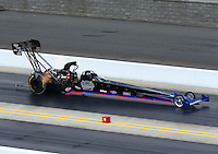 Sep 15, 2013; Charlotte, NC, USA; NHRA top fuel dragster driver Pat Dakin during the Carolina Nationals at zMax Dragway. Mandatory Credit: Mark J. Rebilas-