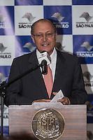 ATENÇÃO EDITOR: FOTO EMBARGADA PARA VEÍCULOS INTERNACIONAIS. SAO PAULO, SP,  05 DE FEVEREIRO DE 2013. GOVERNADOR ALCKMIN ANUNCIA  NOVAS CPMA E APLICACAO DE PENAS ALTERNATIVAS O governador Geraldo Alckmin durante anuncio de quinze novas Centrais de Penas e Medidas Alternativas (CPMA) em todo o Estado até o final de 2013 e a aplicação de cem mil medidas de penas alternativas.FOTO ADRIANA SPACA/BRAZIL PHOTO PRESS