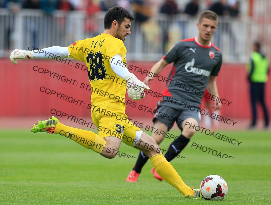 Fudbal Jelen Super League season 2014-2015 <br /> Donji Srem v Crvena Zvezda<br /> Goalkeeper Nemanja Belic<br /> Novi Sad, 29.04.2015.<br /> foto: Srdjan Stevanovic/Starsportphoto&copy;