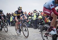 Yves LAMPAERT (BEL/Deceuninck-Quick Step)<br /> <br /> 117th Paris-Roubaix 2019 (1.UWT)<br /> One day race from Compiègne to Roubaix (FRA/257km)<br /> <br /> ©kramon