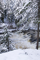 The Dead River in winter near Marquette Michigan.
