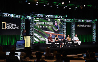BEVERLY HILLS - JULY 23: (L-R) Executive Producer Jon Kroll, Freediver & Spearfisher Kimi Werner, Chef Gordon Ramsay, Chef Monique Fiso, and Cultural Guide & Adventurist Mick O'Shea onstage during the GORDON RAMSAY: UNCHARTED panel at the National Geographic portion of the Summer 2019 TCA Press Tour at the Beverly Hilton on July 23, 2019 in Los Angeles, California. (Photo by Frank Micelotta/National Geographic/PictureGroup)