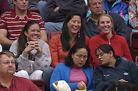 27 October 2005: Leahi Hall, Lindsay Yamasaki, and Sara Dukes during Stanford's 3-0 win over Oregon in Stanford, CA.
