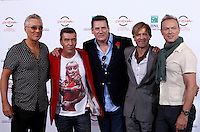 "Gli Spandau Ballet, da sinistra, Martin Kemp, John Keeble, Tony Hadley, Steve Norman e Gary Kemp posano durante un photocall per la presentazione del film documentario ""Soul Boys of the Western World - Spandau Ballet: il film"" al Festival Internazionale del Film di Roma, 20 ottobre 2014.<br /> Spandau Ballet pop rock band members, from left, Martin Kemp, John Keeble, Tony Hadley, Steve Norman and Gary Kemp for a photocall to present the documentary movie ""Soul Boys of the Western World"" during the international Rome Film Festival at Rome's Auditorium, 20 October 2014.<br /> UPDATE IMAGES PRESS/Isabella Bonotto"