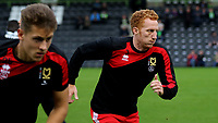 Dean Lewington of MK Dons warms up pre-match during Forest Green Rovers vs MK Dons, Caraboa Cup Football at The New Lawn on 8th August 2017