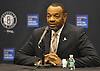 Brooklyn Nets Head Coach Lionel Hollins fields questions during Media Day held at the team's practice center in East Rutherford, New Jersey on Monday, September 28, 2015.<br /> <br /> James Escher