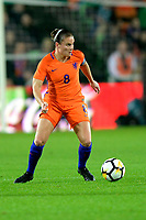 GRONINGEN -  Voetbal, Nederland - Noorwegen, Noordlease stadion, WK kwalificatie vrouwen, 24-10-2017,   Nederland speelster Sherida Spitse