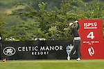 Rhys Enoch hits his drive at the 4th during the second round of the ISPS Handa Wales Open 2013 at the Celtic Manor Resort<br /> <br /> 30.08.13<br /> <br /> ©Steve Pope-Sportingwales