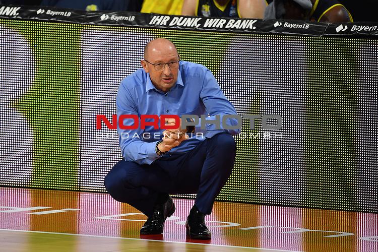 Mladen DRIJENCIC (Trainer Ol),<br /> <br /> Basketball 1.Bundesliga,BBL, nph0001-Finalturnier 2020.<br /> Viertelfinale am 18.06.2020.<br /> BROSE BAMBERG-EWE BASKETS OLDENBURG,<br /> Audi Dome<br /> <br /> Foto:Frank Hoermann / SVEN SIMON / /Pool/nordphoto<br /> <br /> National and international News-Agencies OUT - Editorial Use ONLY