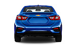 Straight rear view of 2018 Chevrolet Cruze Premier 4 Door Sedan Rear View  stock images