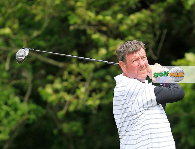 Richard Williams (Naas) on the 14th tee during Round 2 of the Irish Mid-Amateur Open Championship at New Forest on Saturday 20th June 2015.<br /> Picture:  Thos Caffrey / www.golffile.ie