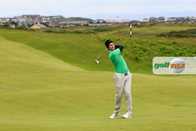 John-Ross Galbraith (Whitehead) on the 4th during the Final round of the North of Ireland Amateur Open Championship at Royal Portrush, Dunluce Course on Friday 17th July 2015.<br /> Picture:  Golffile | Thos Caffrey