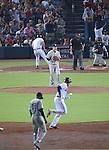 Masahiro Tanaka (Yankees), AUGUST 28, 2015 - MLB : Pitcher Masahiro Tanaka of the New York Yankees reacts after giving up a home run to Freddie Freeman of the Atlanta Braves who rounds the bases in the third inning during the Major League Baseball Interleague game at Turner Field in Atlanta, Georgia, United States. (Photo by AFLO)