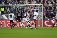 Manuel Lanzini of West Ham shoots  during West Ham United vs Burnley, Premier League Football at The London Stadium on 10th March 2018