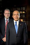 President Felipe Calderon and Peter Greenberg at Los Pinos