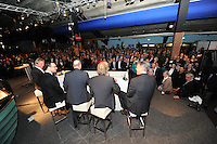 VOETBAL: ABE LENSTRA STADION: HEERENVEEN: 14-01-2014, Nieuwjaarsreceptie, forum: Marco van Basten, Jan Mulder, Wim Anker, Gerald Sibon, Tom Egbers, ©foto Martin de Jong