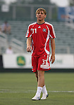 15 July 2007: Chicago's Floyd Franks.  The United Soccer League Division 1 Carolina Railhawks defeated Major League Soccer's Chicago Fire 1-0 in a Third Round Lamar Hunt U.S. Open Cup game at SAS Stadium in Cary, North Carolina.