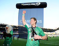 28/05/2016;Guinness Pro12 Final<br /> Connacht&rsquo;s Kieran Marmion celebrates after the game.<br /> Photo Credit: actionshots.ie/Tommy Grealy