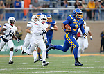 BROOKINGS, SD - AUGUST 31: Taryn Christion #3 from South Dakota State University breaks loose for a 91 yard gain past Duquesne in the first half of their game Thursday night at Dana J. Dykhouse Stadium in Brookings. (Photo by Dave Eggen/Inertia)