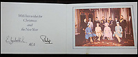 BNPS.co.uk (01202 558833)<br /> Pic: MooreAllen&amp;Innocent/BNPS<br /> <br /> The Queen and Prince Philip's 1980 card.<br /> <br /> A comprehensive collection of Christmas cards sent by the Queen and Prince Philip over a 30 year period have emerged to highlight the fascinating changes of the Royal Family.<br /> <br /> The 31 greetings cards carry various images of the Royal couple on the front along with different members of their family.<br /> <br /> They were sent every year without fail from 1971 through to 2001 to the unnamed recipient, who was clearly an acquaintance of the Queen.<br /> <br /> The first card features a formal photograph of the Queen, the Duke of Edinburgh, a 23-year-old Prince Charles, Princess Anne, Prince Andrew, aged 11 and seven-year-old Prince Edward.<br /> <br /> They are being sold in Cirencester on Friday.