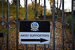 A sign directing away supporters to the Crabble, pictured before National League Dover Athletic hosted League 2 Cambridge United in an FA Cup first round replay. The club was founded in 1983 after the dissolution of the town's previous club Dover FC, whose place in the Southern League was taken by the new club. Cambridge United won the tie by 4-2 after extra time, watched by a crowd of 1158.