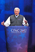 Foster Friess, Chairman, Friess Associates, introduces former United States Senator Rick Santorum (Republican of Pennsylvania), a candidate for the 2012 Republican Party nomination for President of the United States, at the 2012 CPAC Conference at the Marriott Wardman Park Hotel in Washington, D.C. on Friday, February 10, 2012..Credit: Ron Sachs / CNP