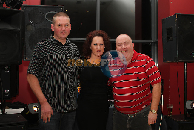 Roberta and Maurice Smith of Cliché and DJ Groggy Mac provided the entertainment at the Benefit Night for Jasmine Williams in the Thatch...(Photo credit should read Jenny Matthews www.newsfile.ie)....This Picture has been sent you under the condtions enclosed by:.Newsfile Ltd..The Studio,.Millmount Abbey,.Drogheda,.Co Meath..Ireland..Tel: +353(0)41-9871240.Fax: +353(0)41-9871260.GSM: +353(0)86-2500958.email: pictures@newsfile.ie.www.newsfile.ie.