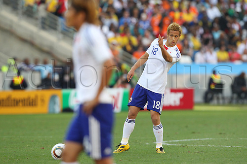 Keisuke Honda (JPN), .JUNE 19, 2010 - Football : .2010 FIFA World Cup South Africa .Group Match -Group E- .between Netherlands 1-0 Japan .at Durban Stadium, Durban, South Africa. .
