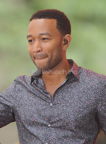 NEW YORK, NY- JULY 10: John Legend performs at NBC's Today Show at Rockefeller Center in New York City on July 10, 2014. Credit: John Palmer/MediaPunch