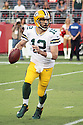 August 26 2016: Quarterback Aaron Rogers of the Green Bay Packers during a 21-10 victory over the San Francisco 49ers at Levi's Stadium in Santa Clara, Ca.